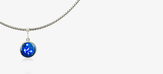 Silver Chain With Constellation Pendant